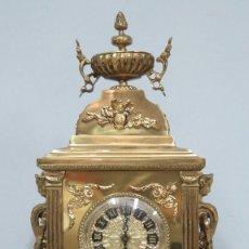 Relojes de carga manual: GRAN RELOJ DE BRONCE DORADO. Lote 125167851