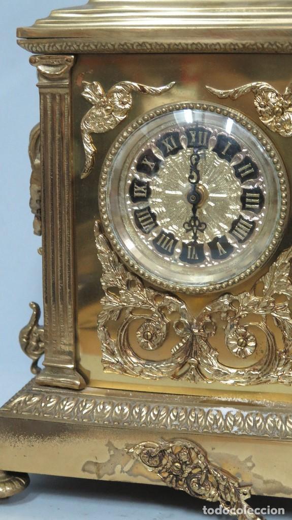 Relojes de carga manual: GRAN RELOJ DE BRONCE DORADO - Foto 3 - 125167851