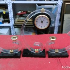 Relojes de carga manual: RELOJ DE SOBREMESA CON GUARNICION DE METRAQUILATO Y METAL NUEVO A ESTRENAR. Lote 125419047
