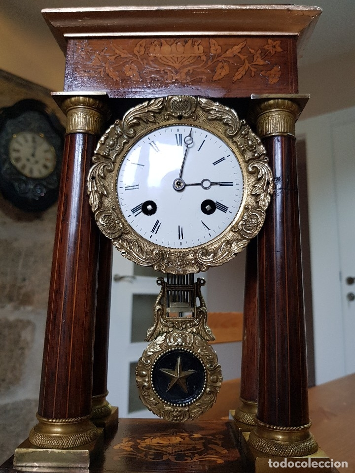 RELOJ DE PÓRTICO FRANCES (Clocks and Watches - Shelf and Mantel Clocks)