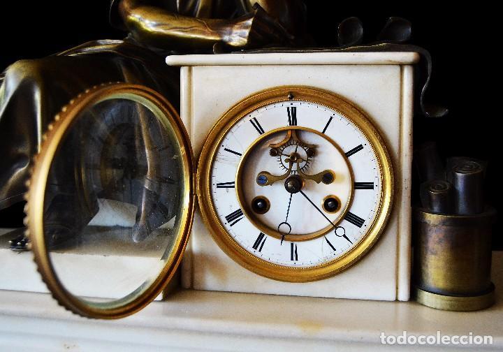 Relojes de carga manual: reloj de sobremesa con guarnicion siglo xix - Foto 3 - 126855003