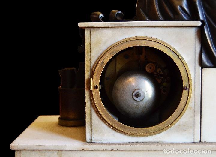 Relojes de carga manual: reloj de sobremesa con guarnicion siglo xix - Foto 4 - 126855003
