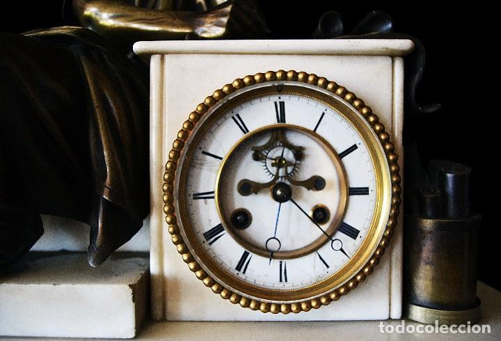 Relojes de carga manual: reloj de sobremesa con guarnicion siglo xix - Foto 5 - 126855003