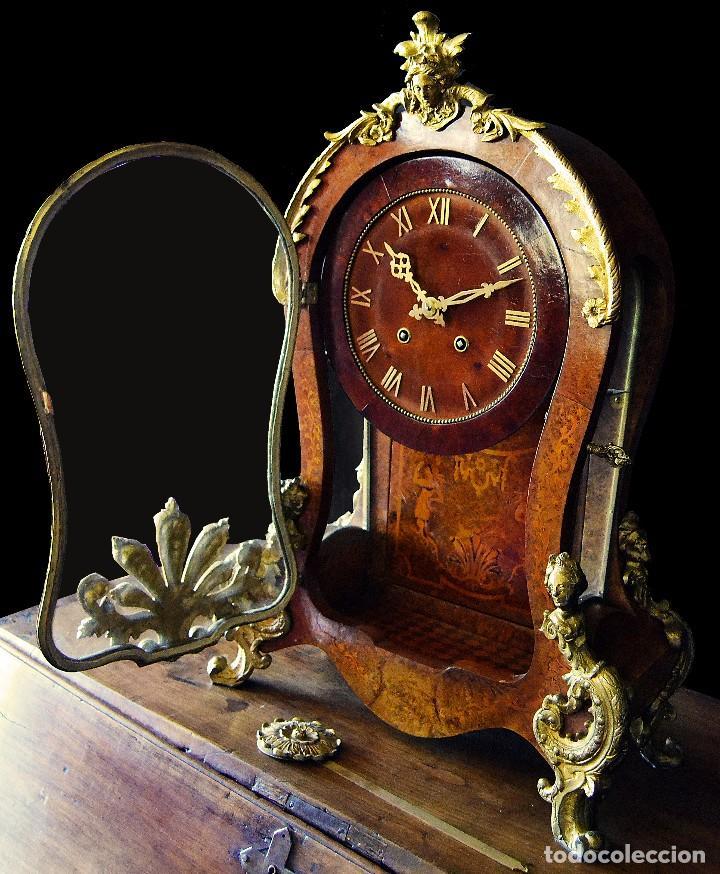 Relojes de carga manual: Reloj de sobremesa estilo luis xv siglo xix - Foto 2 - 126855979