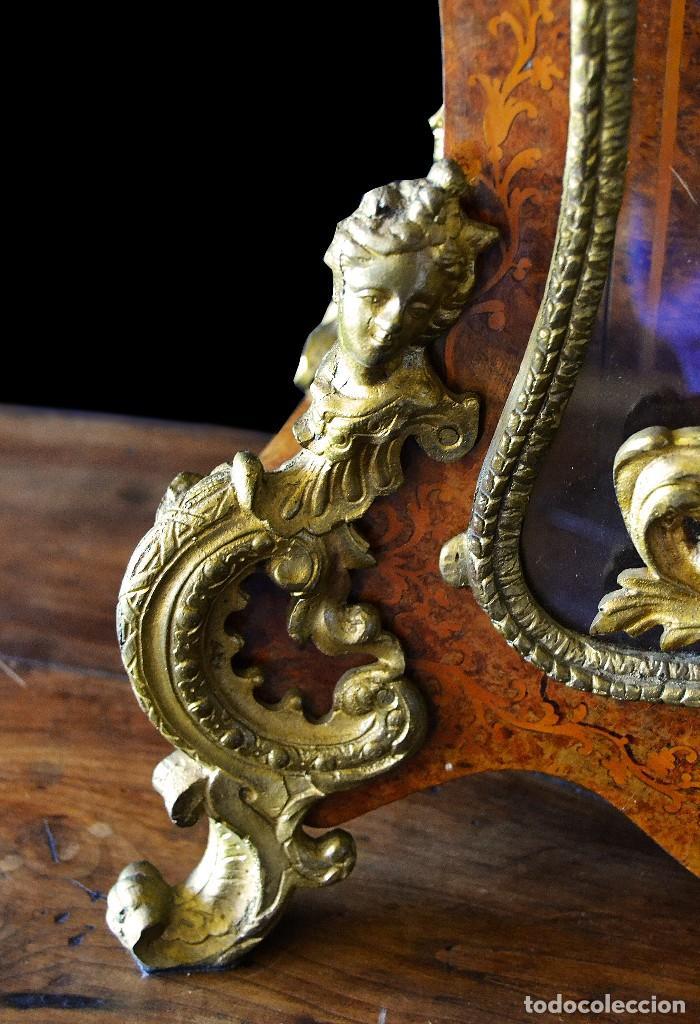 Relojes de carga manual: Reloj de sobremesa estilo luis xv siglo xix - Foto 3 - 126855979