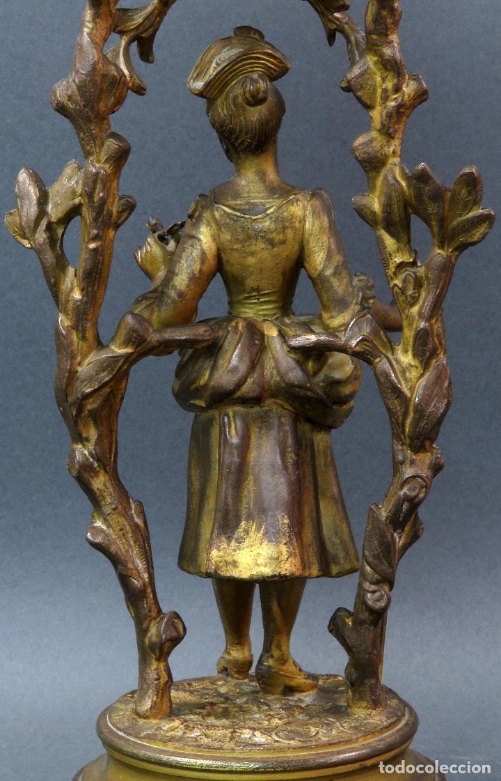 Relojes de carga manual: Reloj de sobremesa en bronce dorado francés finales del siglo XIX no funciona - Foto 5 - 129236759