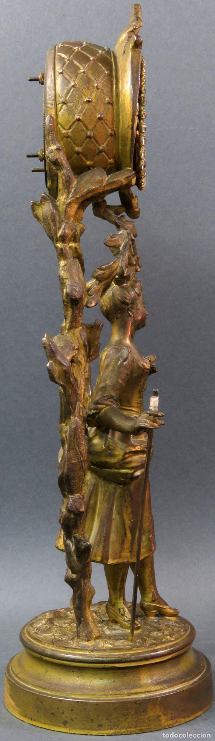 Relojes de carga manual: Reloj de sobremesa en bronce dorado francés finales del siglo XIX no funciona - Foto 6 - 129236759