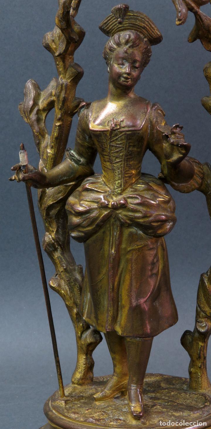 Relojes de carga manual: Reloj de sobremesa en bronce dorado francés finales del siglo XIX no funciona - Foto 8 - 129236759