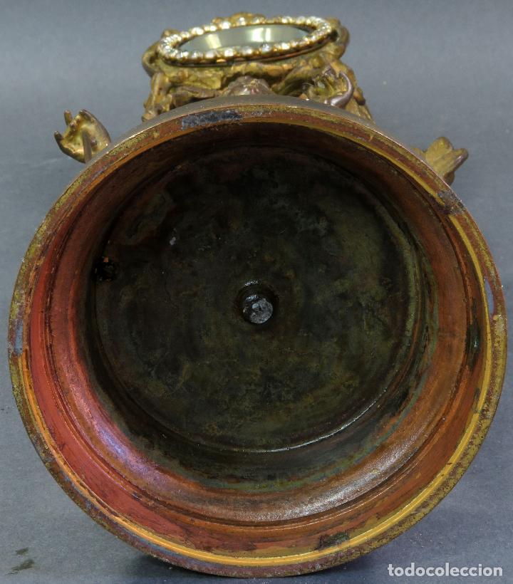 Relojes de carga manual: Reloj de sobremesa en bronce dorado francés finales del siglo XIX no funciona - Foto 10 - 129236759