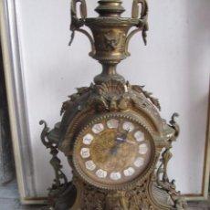 Relojes de carga manual: RELOJ DE SOBREMESA DE BRONCE (CUARZO) - FUNCIONA PERFECTAMENTE. Lote 129641599