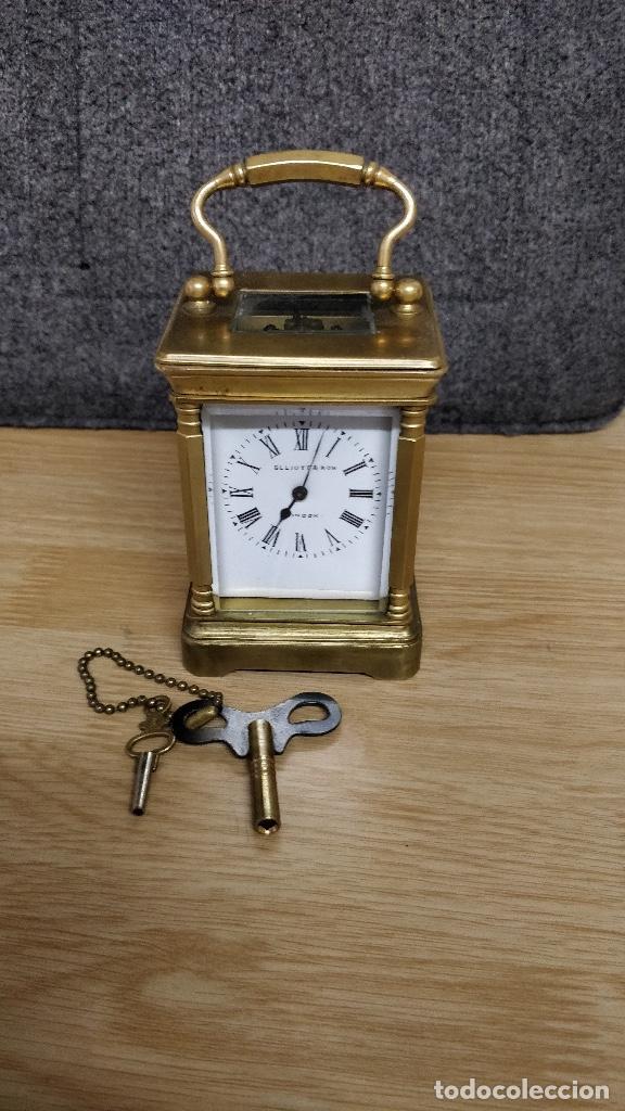 ANTIGUO RELOJ DE VIAJE ELLIOTT & SON, LONDON. (Relojes - Sobremesa Carga Manual)