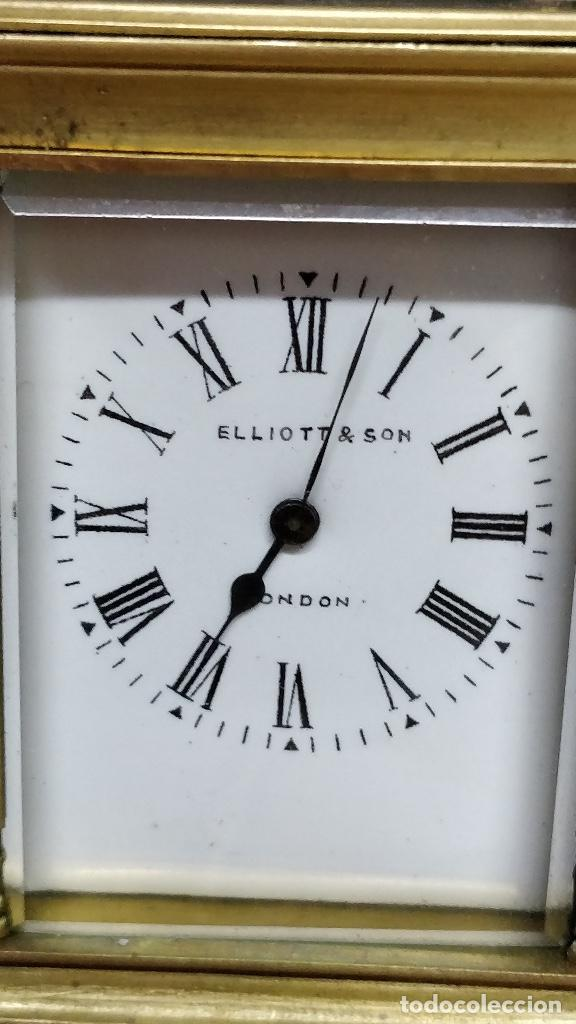 Relojes de carga manual: Antiguo reloj de viaje Elliott & Son, London. - Foto 2 - 129679903