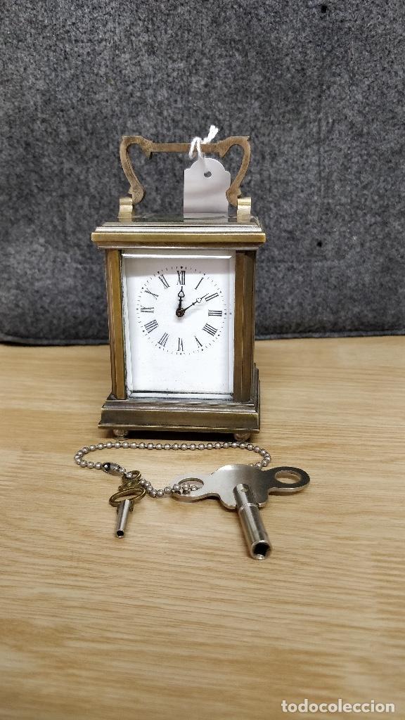 RELO DE VIAJE ANTIGUO, SOBREMESA CARGA MANUAL (Relojes - Sobremesa Carga Manual)