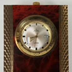 Relojes de carga manual: RELOJ DE SOBREMESA. POTENS PRIMA. 17 RUBIS. SUIZA. SOPORTE DE BRONCE. CIRCA 1960. . Lote 129968627