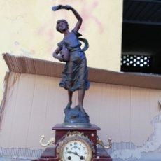 Relojes de carga manual: ANTIGUO RELOJ FRANCÉS SIGLO XIX ESCULTURA FIRMADA. Lote 130872881