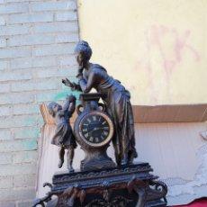 Relojes de carga manual: IMPRESIONANTE RELOJ FRANCÉS SIGLO XIX MUY DETALLADO. Lote 130875649