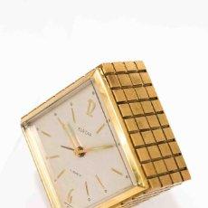 Relojes de carga manual: ELEGANTE RELOJ DESPERTADOR DE CUERDA MANUAL,EN BRONCE, FUNCIONANDO. Lote 130977576