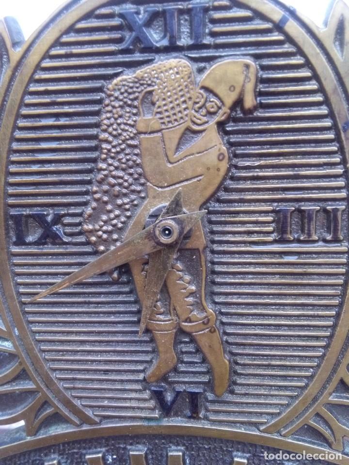 Relojes de carga manual: Reloj de colección Saimaza con pie de mármol, 25 x 18 cm - Foto 3 - 131442958