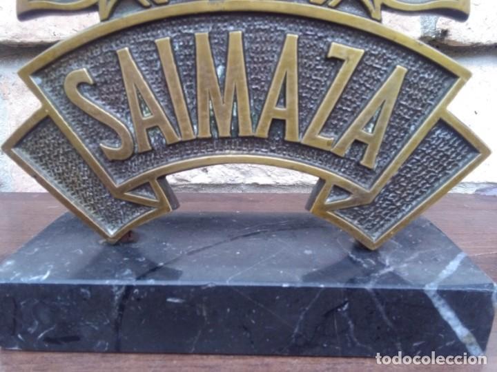 Relojes de carga manual: Reloj de colección Saimaza con pie de mármol, 25 x 18 cm - Foto 4 - 131442958