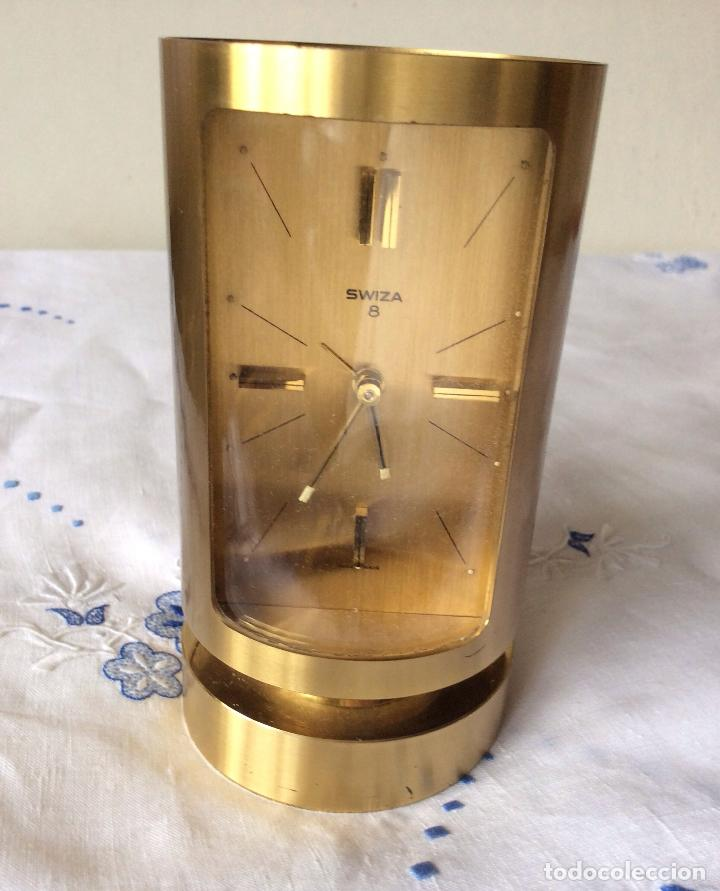 Relojes de carga manual: SWIZA 8 RELOJ DE SOBREMESA,FORMA CILÍNDRICA ,MUY RARO - Foto 4 - 131532270