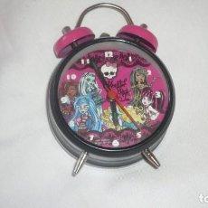 Relojes de carga manual: RELOJ-DESPERTADOR MONSTER HIGH FUNCIONANDO PERFECTAMENTE. Lote 132011010