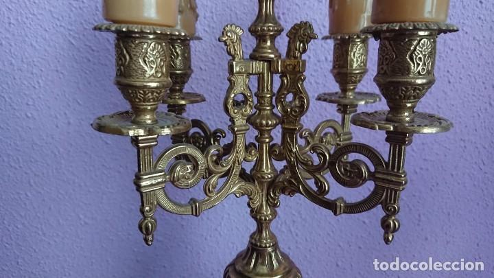 Relojes de carga manual: ANTIGUO RELOJ Y CANDELABROS BRONCE - Foto 13 - 132245246