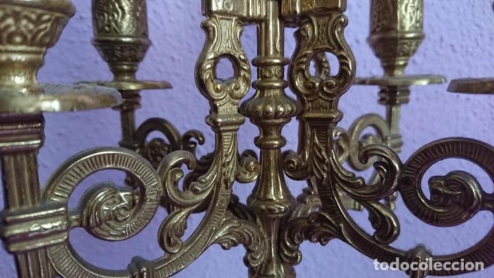 Relojes de carga manual: ANTIGUO RELOJ Y CANDELABROS BRONCE - Foto 14 - 132245246
