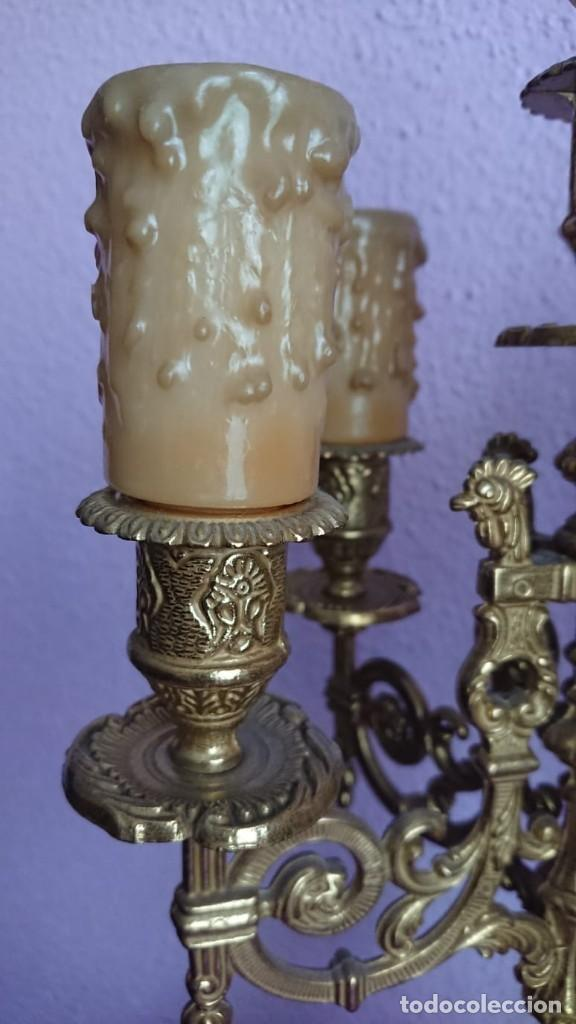 Relojes de carga manual: ANTIGUO RELOJ Y CANDELABROS BRONCE - Foto 15 - 132245246