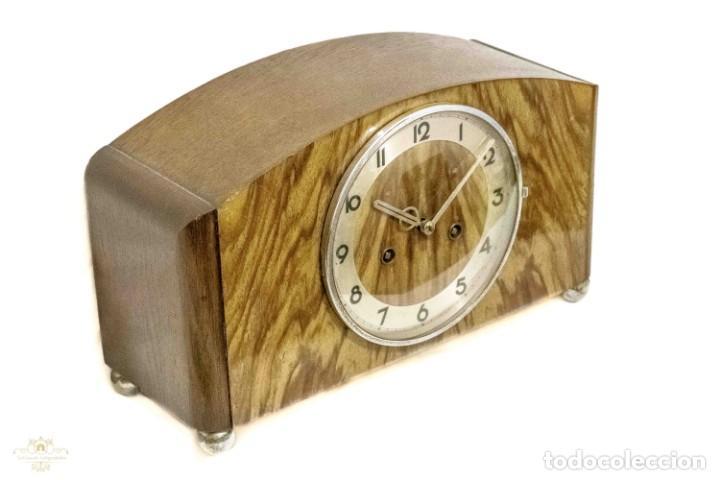 Relojes de carga manual: ANTIGUO RELOJ DE SOBREMESA ORIGEN ALEMAN,GUSTAV BECKER, 1920, FUNCIONANDO - Foto 2 - 132335834