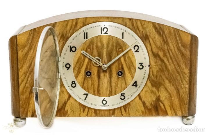 Relojes de carga manual: ANTIGUO RELOJ DE SOBREMESA ORIGEN ALEMAN,GUSTAV BECKER, 1920, FUNCIONANDO - Foto 3 - 132335834