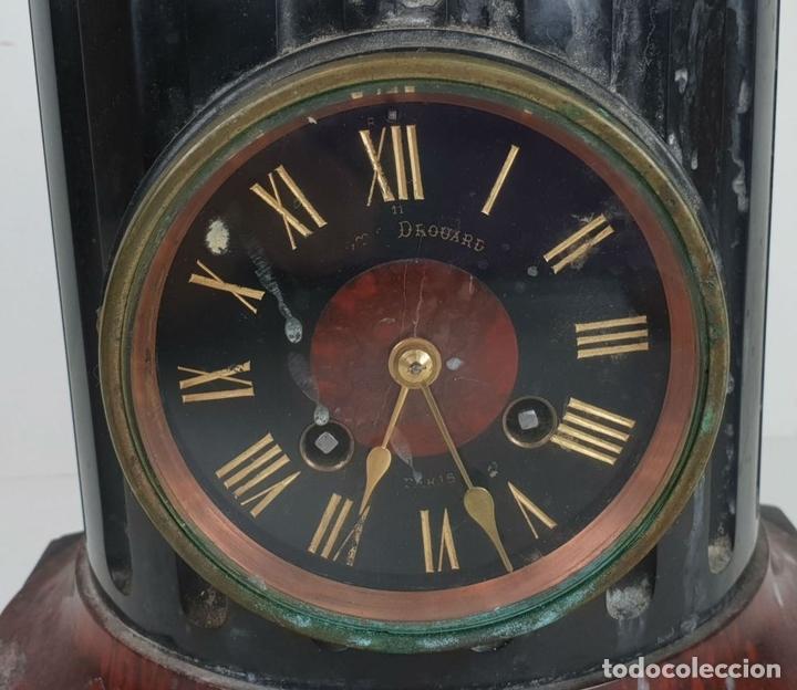 Relojes de carga manual: RELOJ ESCULTURA. DROUARD. PARIS. ESTILO ART NOUVEAU. SIGLO XIX-XX. - Foto 7 - 132473986