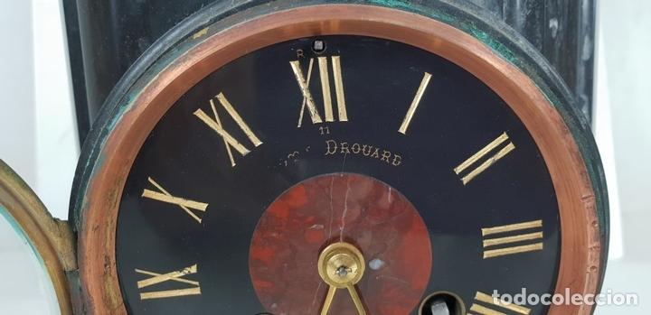 Relojes de carga manual: RELOJ ESCULTURA. DROUARD. PARIS. ESTILO ART NOUVEAU. SIGLO XIX-XX. - Foto 17 - 132473986