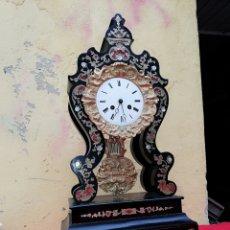 Relojes de carga manual: IMPRESIONANTE RELOJ PÓRTICO INCRUSTACIONES DE NÁCAR SIGLO XIX ALTA CALIDAD. Lote 133486818