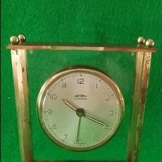 Relojes de carga manual: RELOJ DESPERTADOR OBAYARDO MADE IN SPAIN 2 JEWELS FUNCIONANDO. Lote 133655838