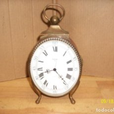 Relojes de carga manual: RELOJ DE SOBREMESA MARCA SWIZA-8 DIAS-FUNCIONA-AÑOS 1960. Lote 133675058