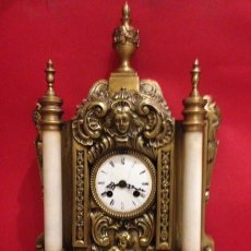 Relojes de carga manual: ANTIGUO RELOJ DE SOBREMESA FRANCES, MARMOL Y BRONCE. BREVET. Lote 135784162