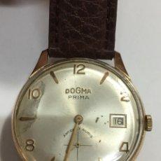 Relojes de carga manual: RELOJ DOGMA PRIMA 36 MM SIN CONTAR CORONA CHAPADO EN ORO,RECIEN REPASADO. Lote 136359162