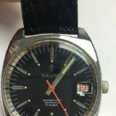 Relojes de carga manual: RELOJ VINTAGE CAUNY PRIMA LUPA CRISTAL PARA VER DIAL,BUEN ESTADO. Lote 136359806