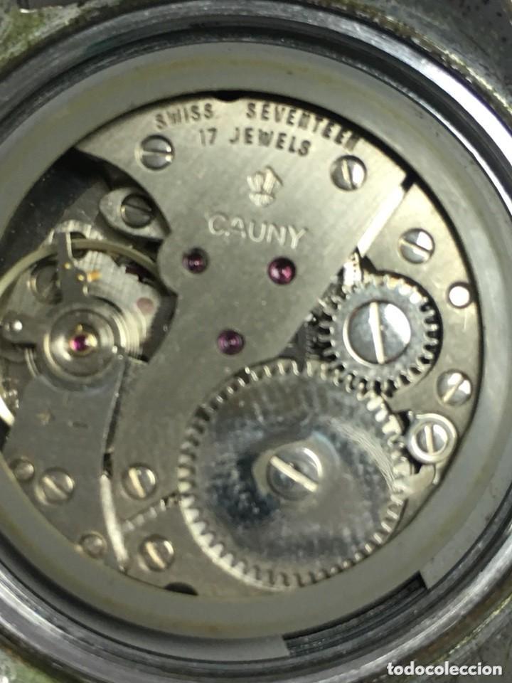 Relojes de carga manual: RELOJ VINTAGE CAUNY PRIMA LUPA CRISTAL PARA VER DIAL,BUEN ESTADO - Foto 2 - 136359806