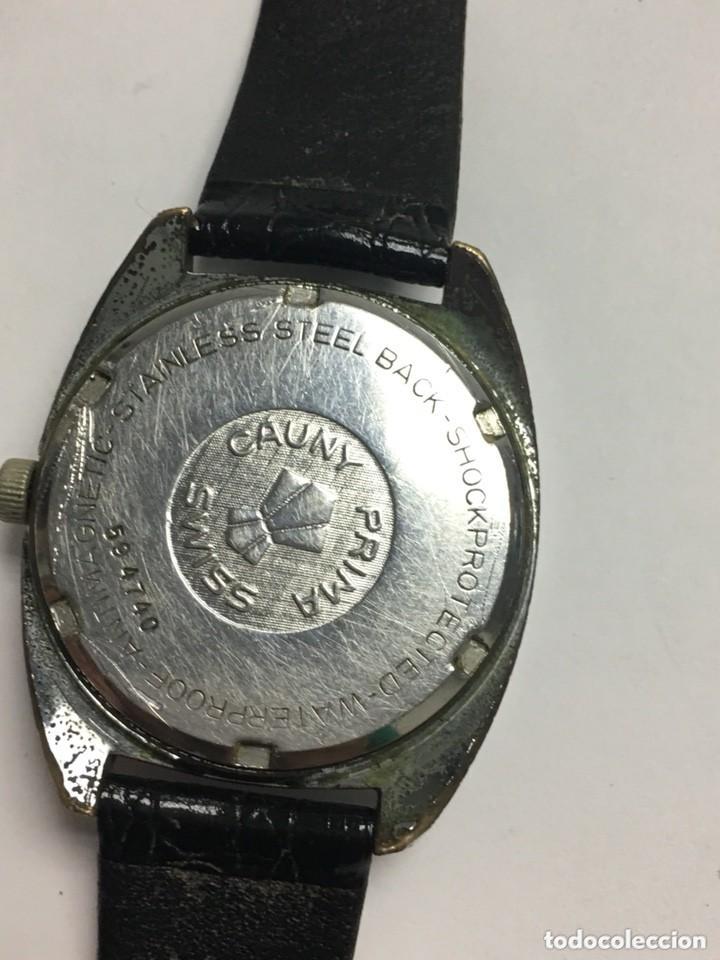 Relojes de carga manual: RELOJ VINTAGE CAUNY PRIMA LUPA CRISTAL PARA VER DIAL,BUEN ESTADO - Foto 3 - 136359806