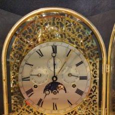 Relojes de carga manual: MAGNIFICO RELOJ DE SOBREMESA ALEMAN KIENINGER, CARRILLON. 8 CAMPANAS Y CALENDARIO . NUMERADO.. Lote 136406100