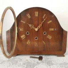 Relojes de carga manual: RELOJ ANTIGUO INGLÉS DE CHIMENEA MESA SOBREMESA SONERIA CAMPANADAS MELODÍA CATEDRAL BIB BEN CARILLÓN. Lote 136416122