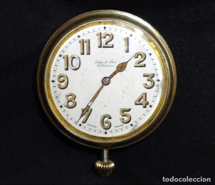 RARISIMO RELOJ - OCLEE & SON- INGLES.PARA SALPICADERO COCHE.AÑOS 120.ORIGINAL.FUNCIONA.AUTOMOVIL (Relojes - Sobremesa Carga Manual)