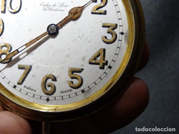 Relojes de carga manual: Rarisimo reloj - Oclee & Son- Ingles.Para salpicadero coche.Años 120.Original.Funciona.automovil - Foto 3 - 136465978