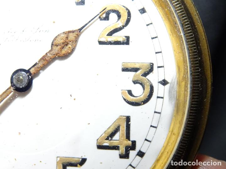 Relojes de carga manual: Rarisimo reloj - Oclee & Son- Ingles.Para salpicadero coche.Años 120.Original.Funciona.automovil - Foto 6 - 136465978