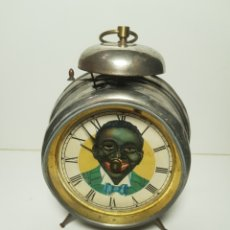 Relojes de carga manual: EL FAMOSO RELOJ DE SOBREMESA DE NEGRO DE LOS OJOS ALEMÁN ANTIGUO. Lote 136518154