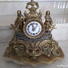 Relojes de carga manual: RELOJ SOBREMESA BRONCE FUNCIONANDO. Lote 136563122