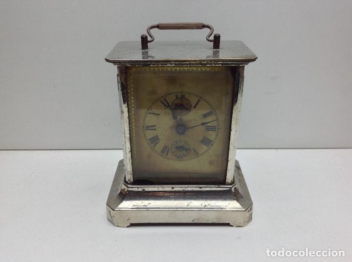 ANTIGUO RELOJ TIPO CARRUAJE -JUNGHANS ALEMAN CON SONERIA - FUNCIONA (Relojes - Sobremesa Carga Manual)