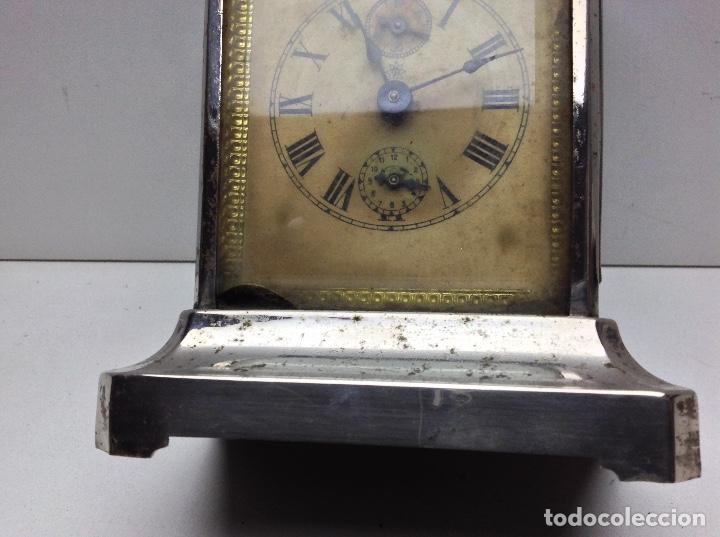 Relojes de carga manual: ANTIGUO RELOJ TIPO CARRUAJE -JUNGHANS ALEMAN CON SONERIA - FUNCIONA - Foto 3 - 136725098