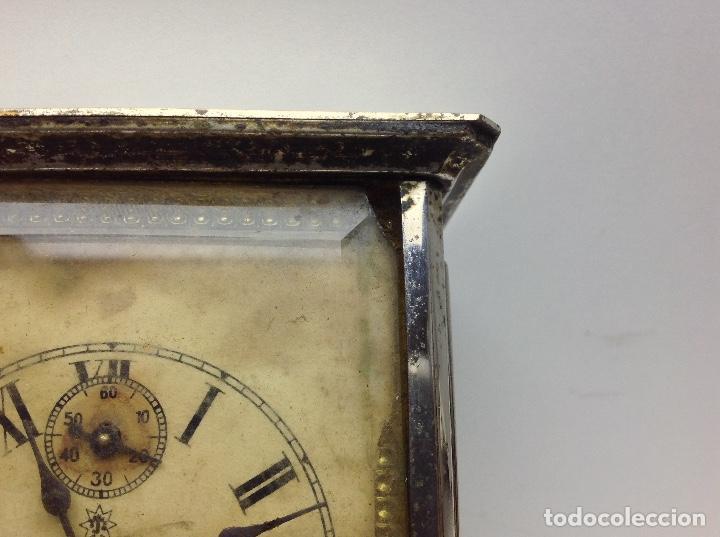 Relojes de carga manual: ANTIGUO RELOJ TIPO CARRUAJE -JUNGHANS ALEMAN CON SONERIA - FUNCIONA - Foto 4 - 136725098